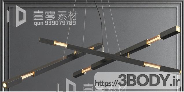 آبجکت سه بعدی  لوستر سقفی عکس 1