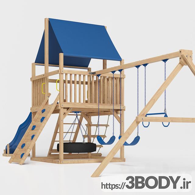 آبجکت ۳ بعدی اسباب بازی کودک و مجموعه ورزشی کودک عکس 2