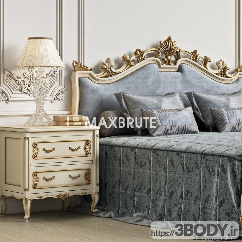 آبجکت سه بعدی اتاق خواب  طوسی عکس 4