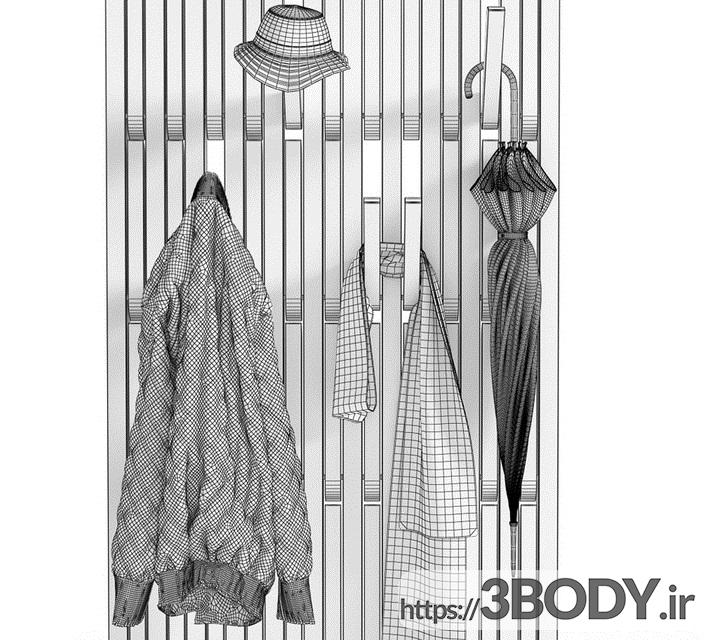 آبجکت سه بعدی مجموعه لباس عکس 2