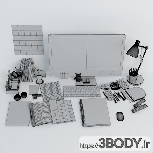 آبجکت سه بعدی لوازم میز کار عکس 2