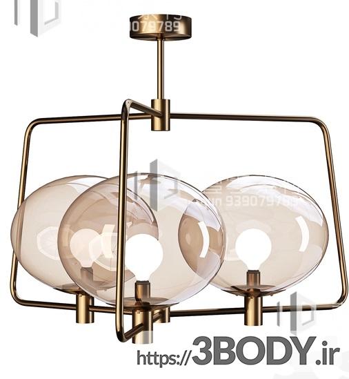 آبجکت سه بعدی  لوستر سقفی حبابی عکس 1