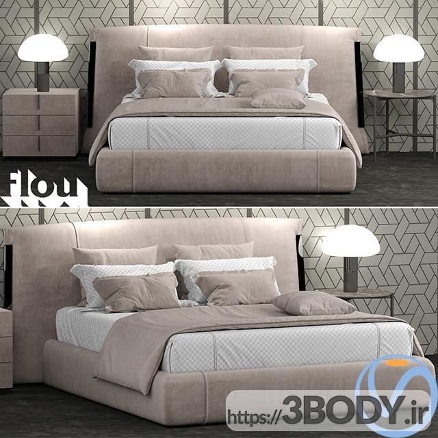 آبجکت سه بعدی تختخواب دو نفره عکس 1