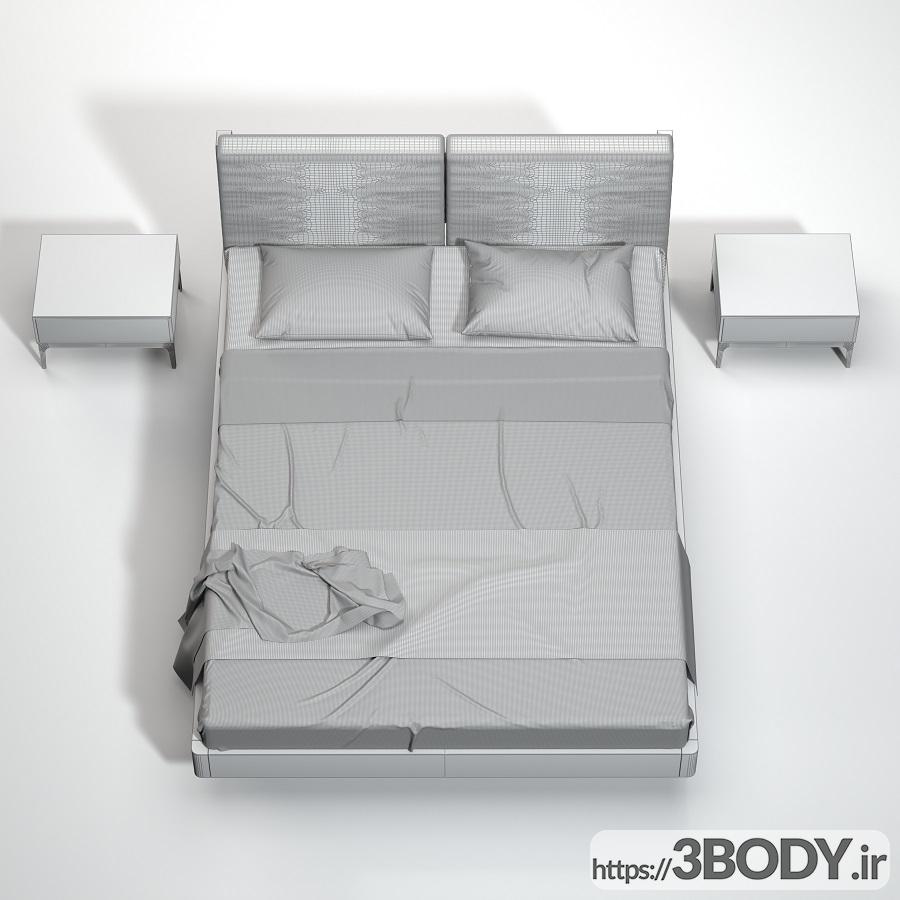 آبجکت سه بعدی  تخت خواب عکس 3
