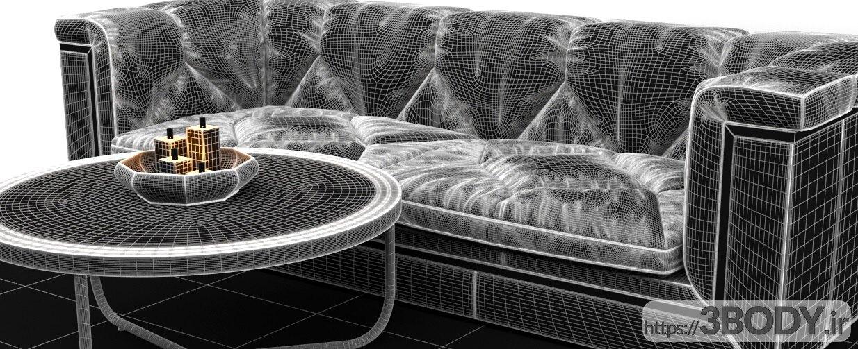 آبجکت سه بعدی  کاناپه عکس 2