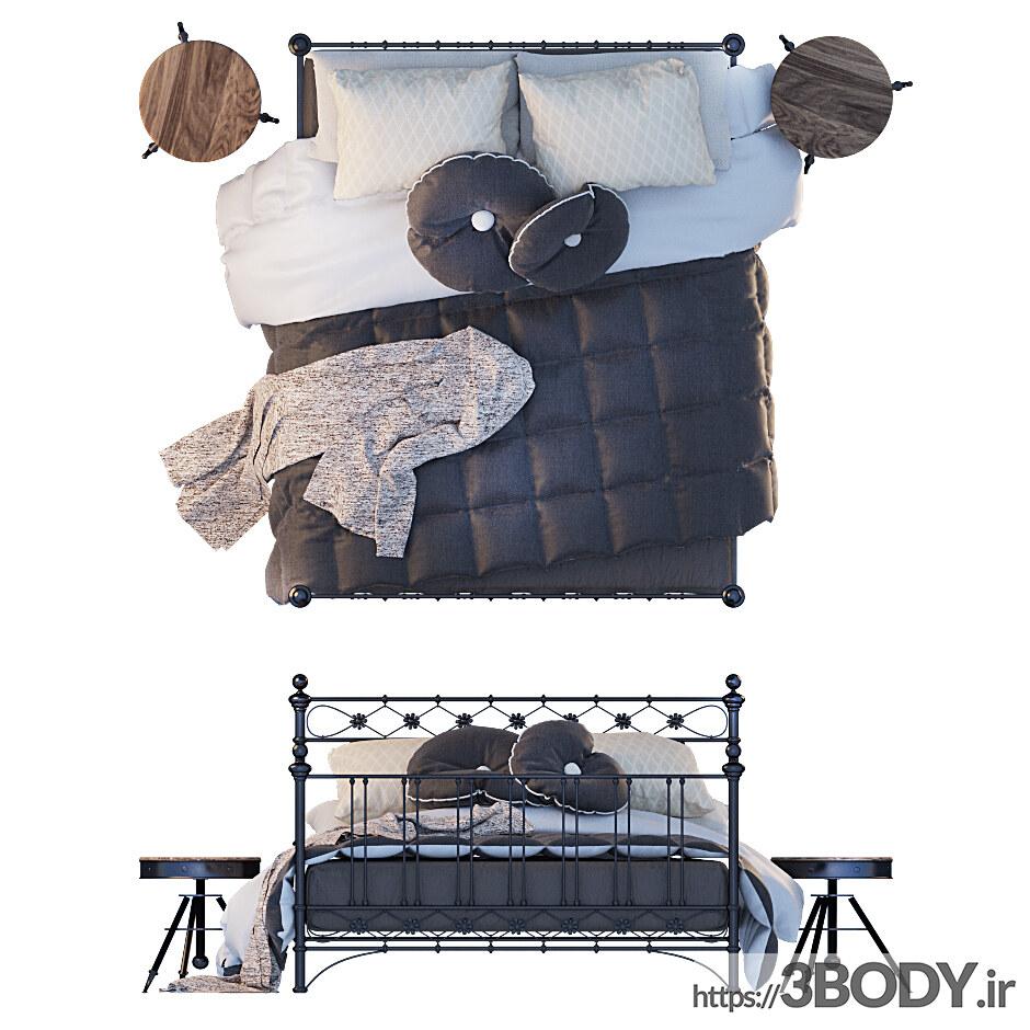 مدل سه بعدی تخت خواب عکس 3