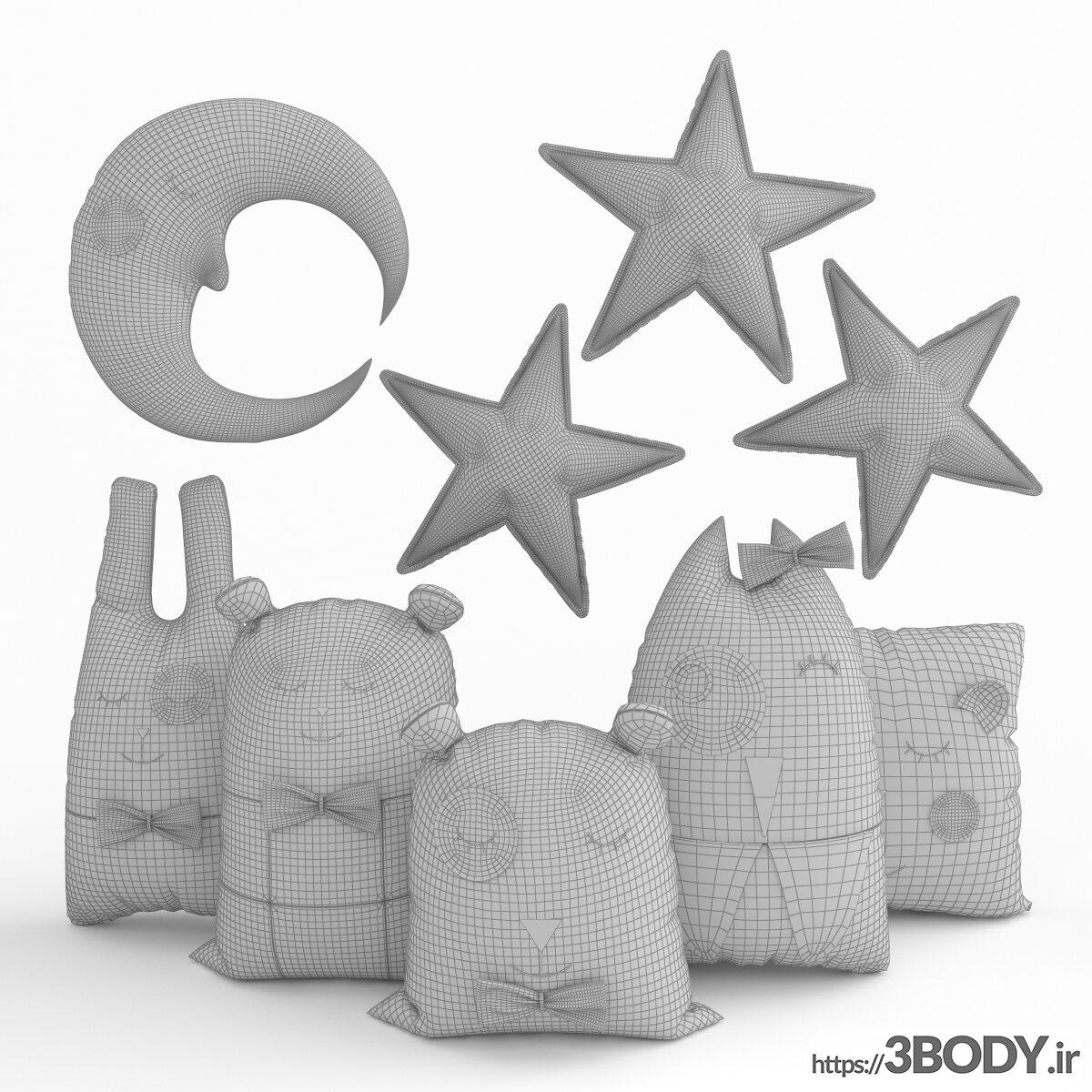 مدل سه بعدی اسباب بازی کودک بالش اسباب بازی عکس 3
