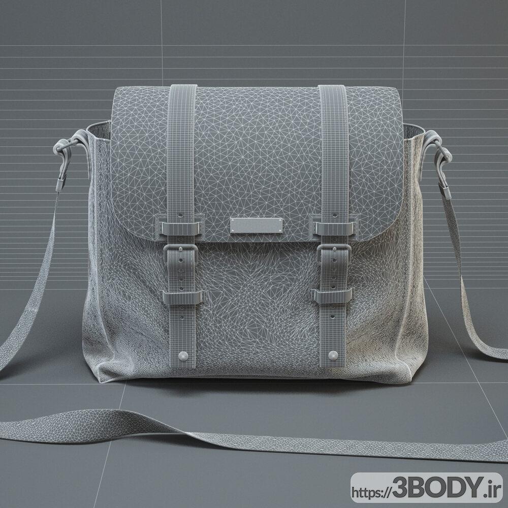 مدل سه بعدی کیف چرمی عکس 2