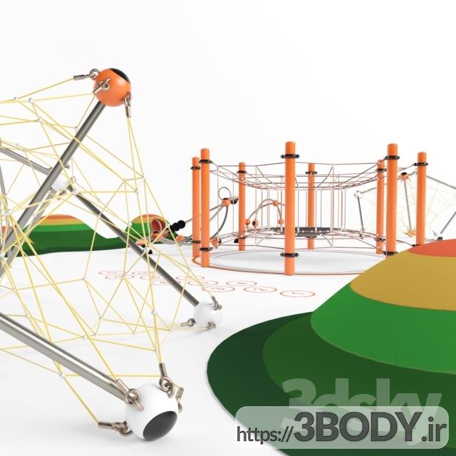 ابجکت ۳ بعدی اسباب بازی کودک زمین بازی عکس 2