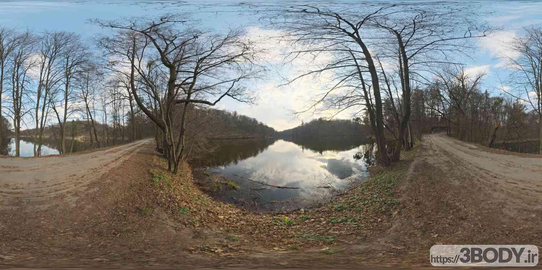 فایل HDRI طبیعت جنگل و دریاچه عکس 1