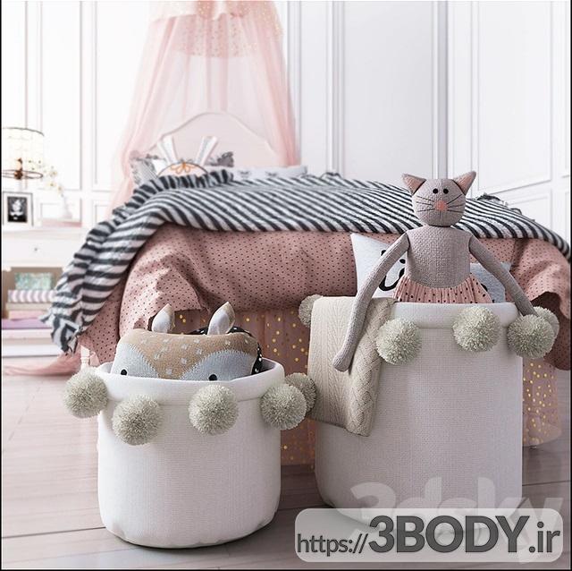 مدل سه بعدی تخت خواب بچه ست اتاق خواب سفال انبار ژولیت عکس 3