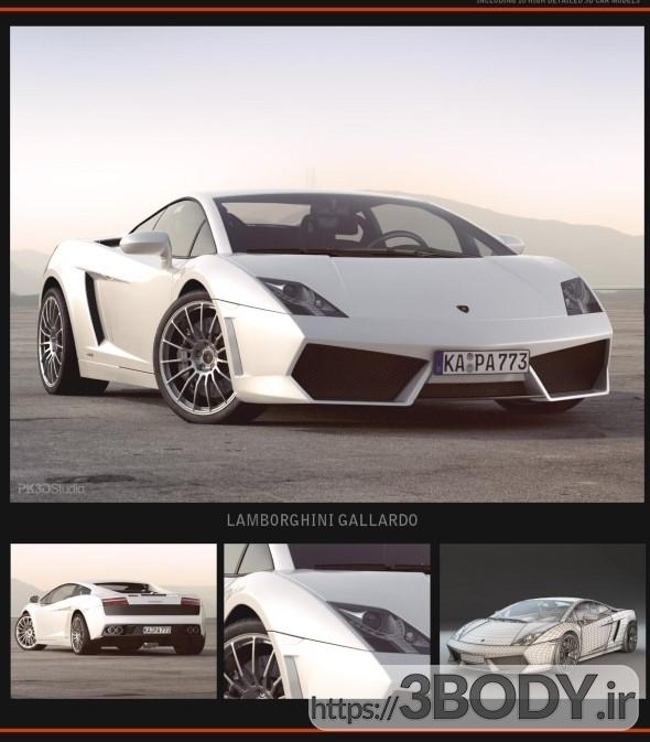 مدل سه بعدی اتومبیل و آبجکت آماده ماشین سواری لامبورگینی گالاردو عکس 1