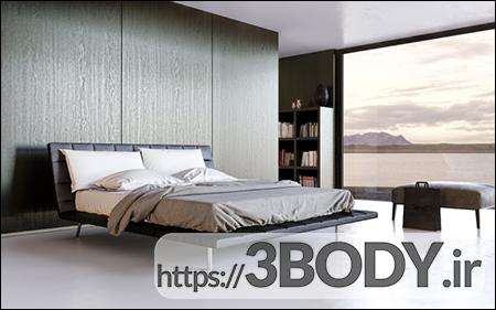 آبجکت سه بعدی  تخت خواب عکس 1