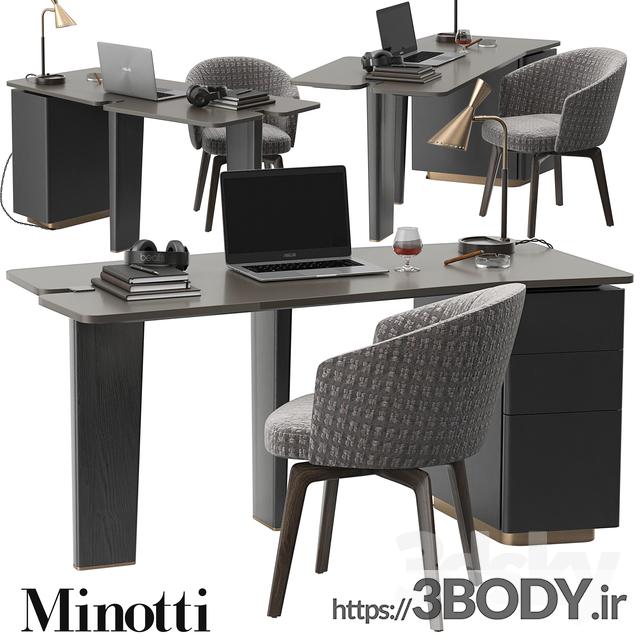 آبجکت سه بعدی ست میز و صندلی عکس 1