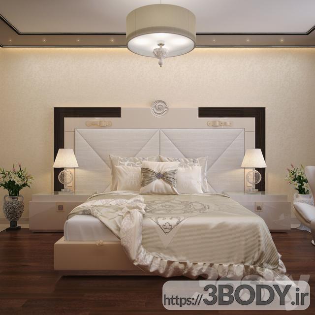 مدل سه بعدی تخت خواب تک نفره عکس 1