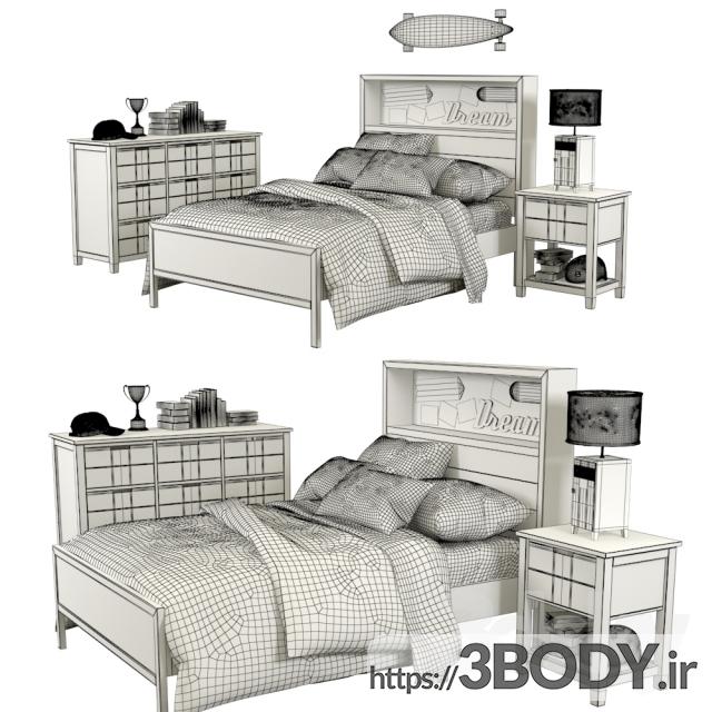 آبجکت سه بعدی اتاق کودک تختخواب سفارشی انبار سفال عکس 2