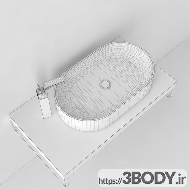 آبجکت سه بعدی روشویی عکس 2