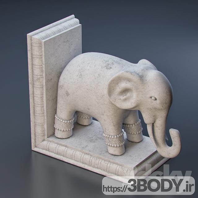 آبجکت سه بعدی تندیس فیل عکس 2