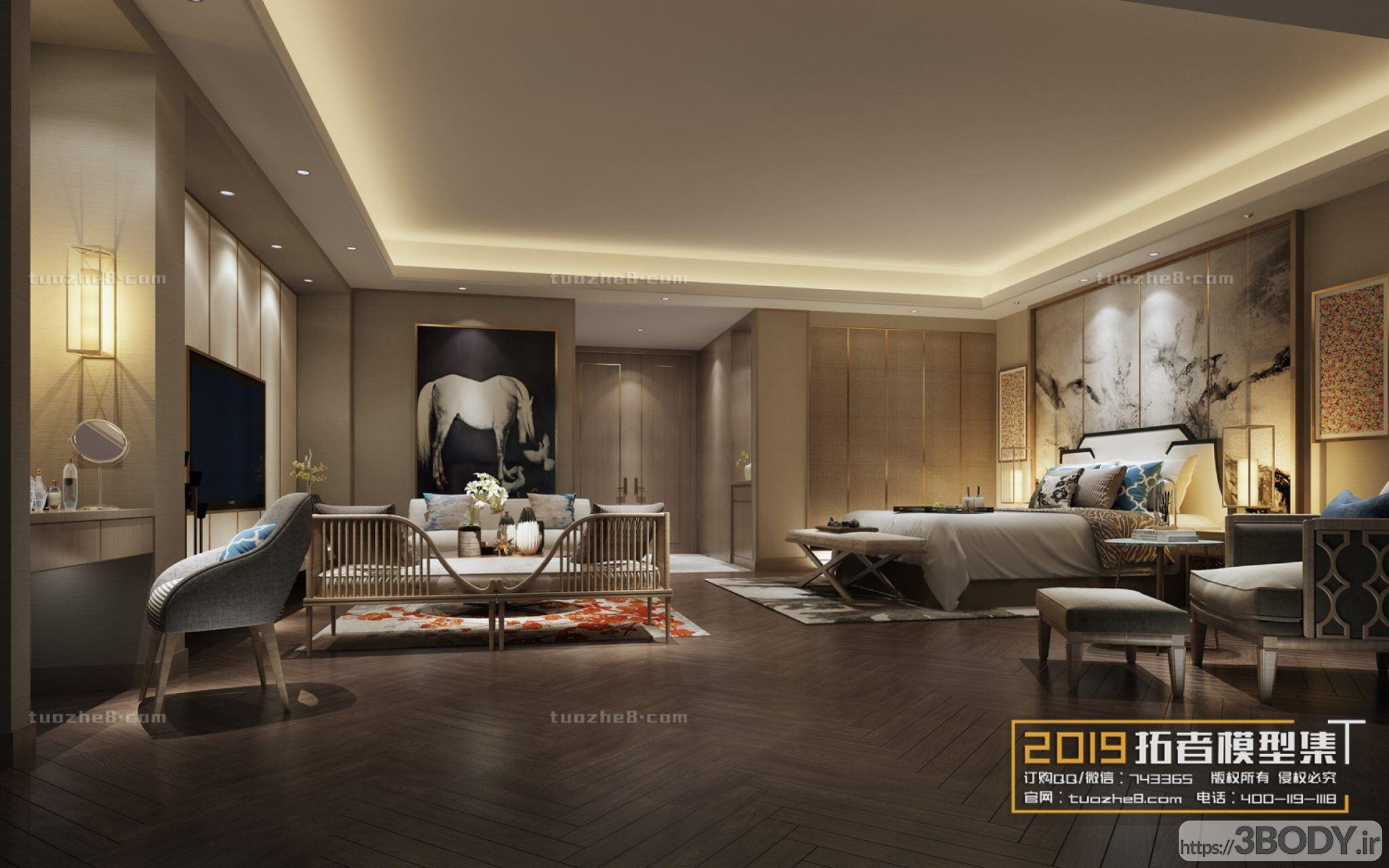صحنه اتاق خواب به سبک چینی عکس 1