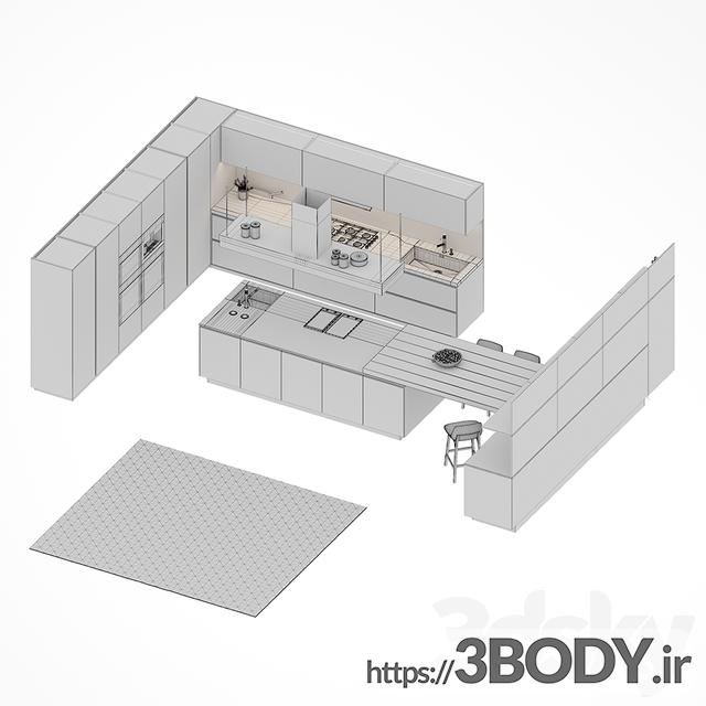 مدل سه بعدی آشپزخانه عکس 2