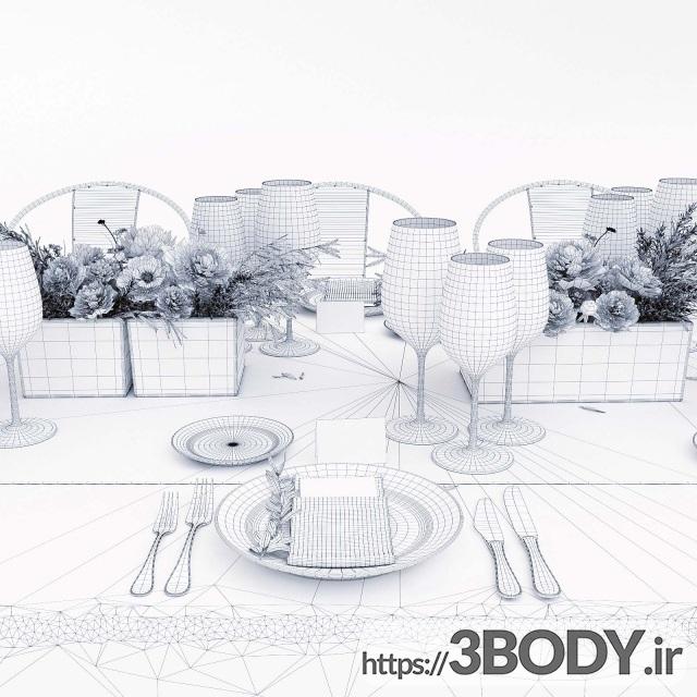 مدل سه بعدی ست ظروف غذاخوری عکس 5