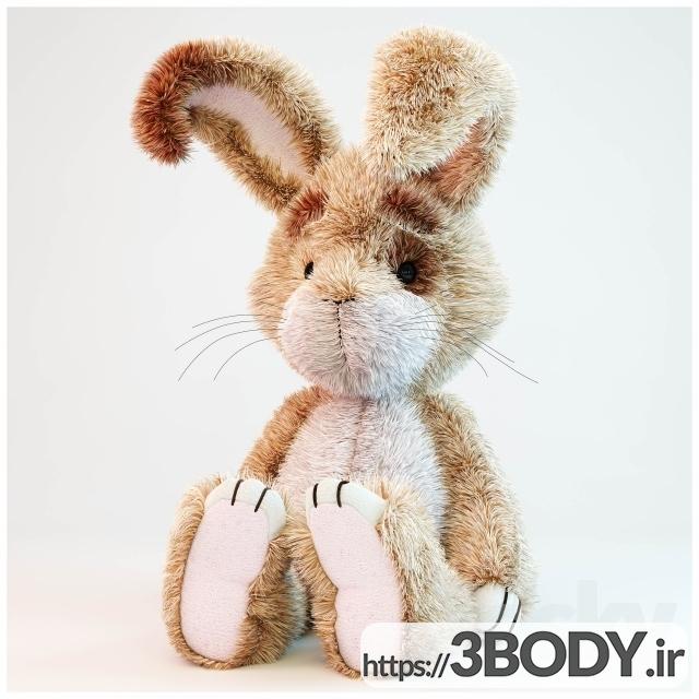 آبجکت ۳ بعدی اسباب بازی کودک خرگوش عکس 3