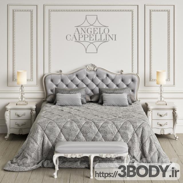 آبجکت سه بعدی اتاق خواب  طوسی عکس 1