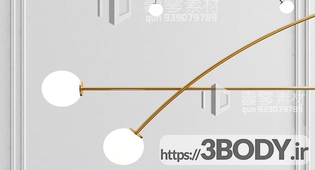 آبجکت سه بعدی  لوستر سقفی عکس 2