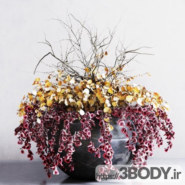 آبجکت سه بعدی  دسته گل رومیزی عکس 1