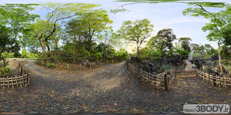 فایل HDRI پارک جنگلی عکس 1