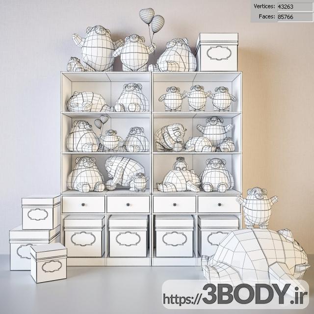 مدل سه بعدی اسباب بازی کودک خرس های پاندا عکس 2