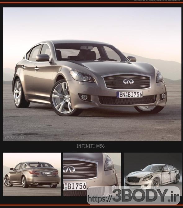 مدل آماده و آبجکت سه بعدی اتومبیل سواری اینفینیتی برای 3dsmax عکس 1
