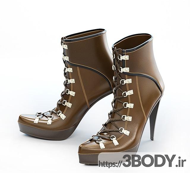 مدل سه بعدی مجموعه کفش های زنانه عکس 2