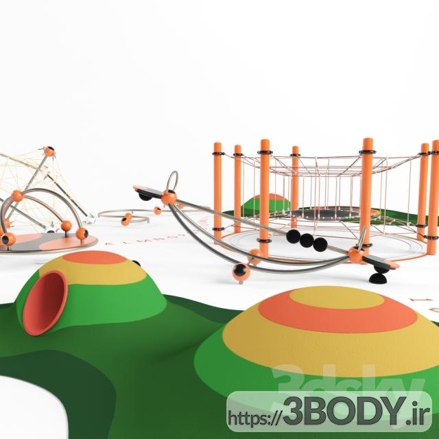 ابجکت ۳ بعدی اسباب بازی کودک زمین بازی عکس 1