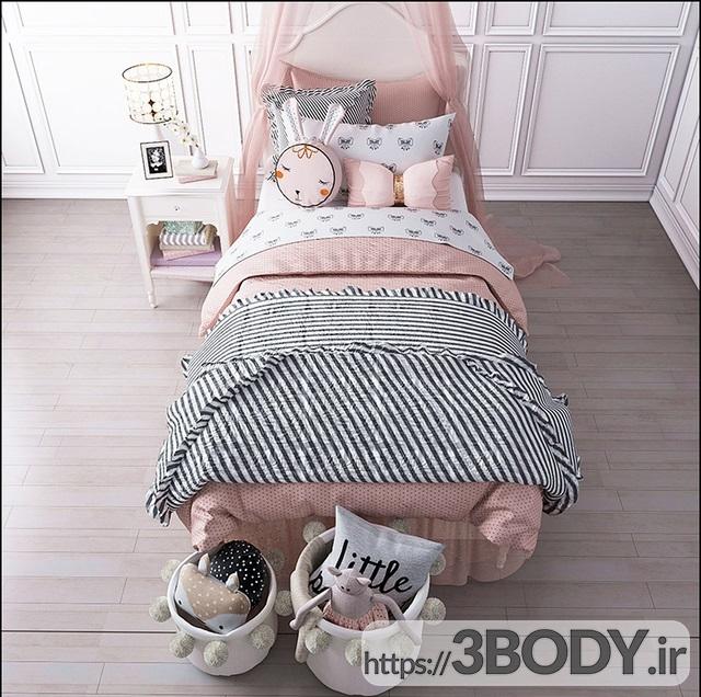 مدل سه بعدی تخت خواب بچه ست اتاق خواب سفال انبار ژولیت عکس 2