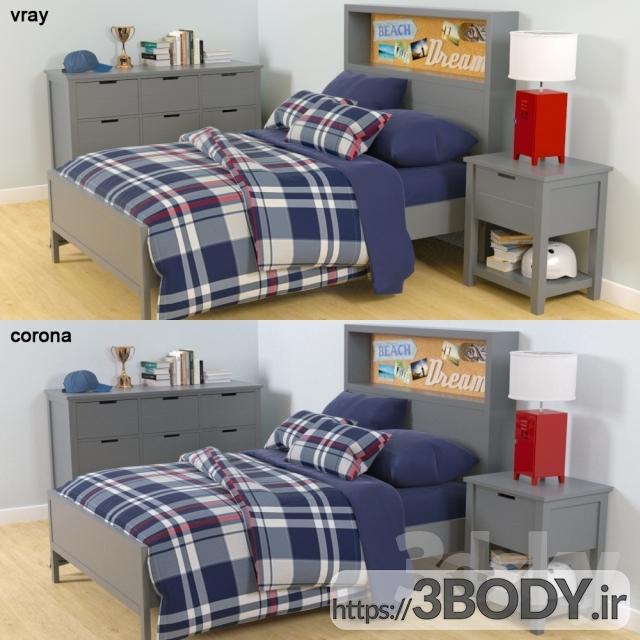آبجکت سه بعدی اتاق کودک تختخواب سفارشی انبار سفال عکس 3