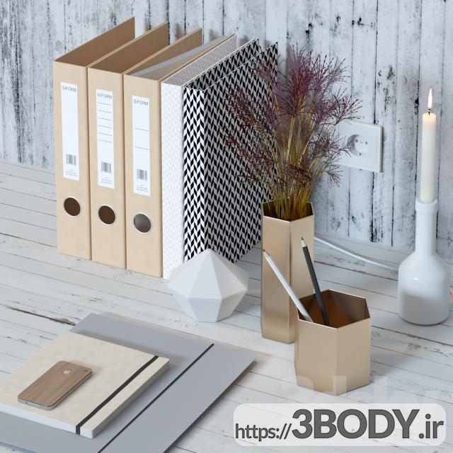 آبجکت سه بعدی ست تزئینی برای میز کار عکس 1