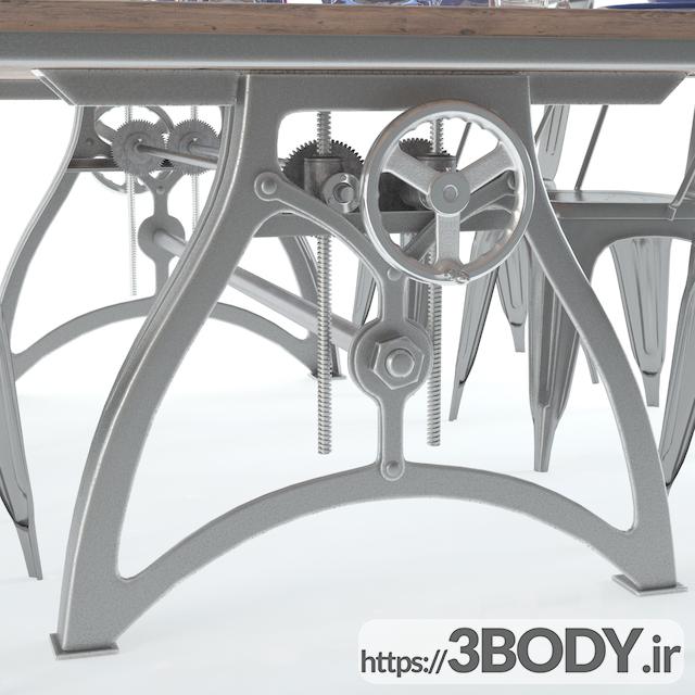 مدل ۳ بعدی میز و صندلی مجموعه  نهار خوری عکس 3
