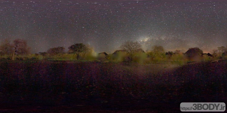 تصویر رایگان HDRI آسمان شب عکس 1