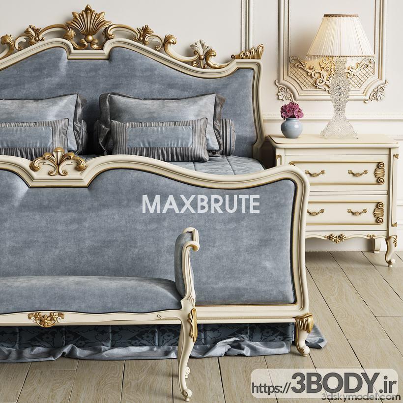 آبجکت سه بعدی اتاق خواب  طوسی عکس 3