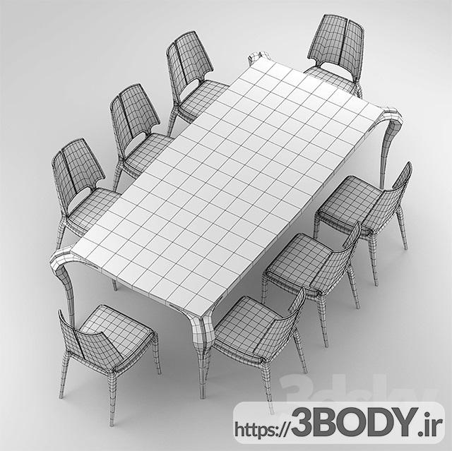 مدل ۳ بعدی میز و صندلی عکس 2
