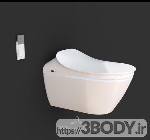 آبجکت سه بعدی توالت فرنگی عکس 3
