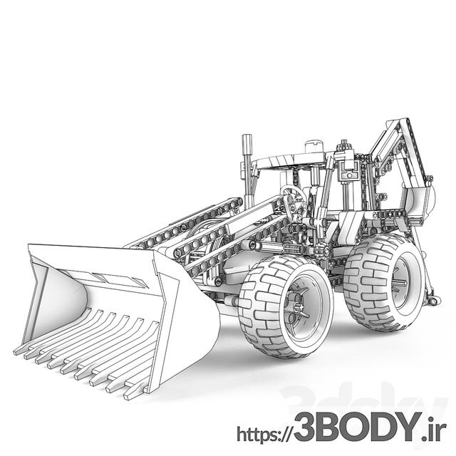 مدل سه بعدی اسباب بازی کودک لودر لگو تکنیک عکس 2