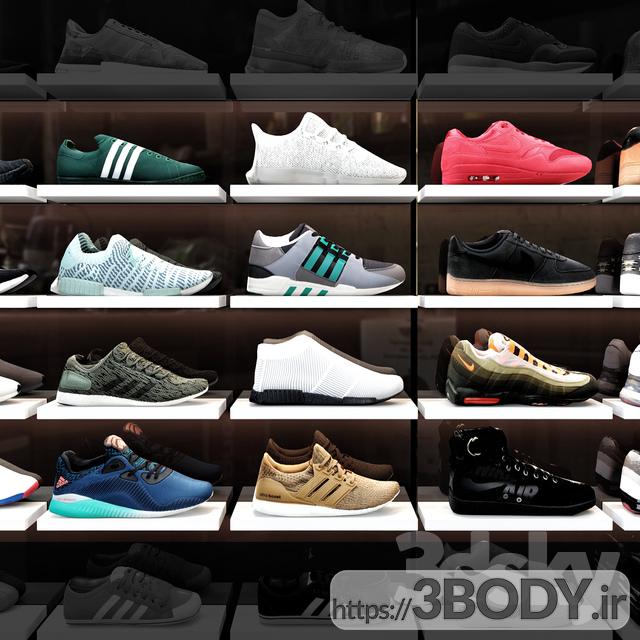 مدل سه بعدی فروشگاه کفش ورزشی عکس 1