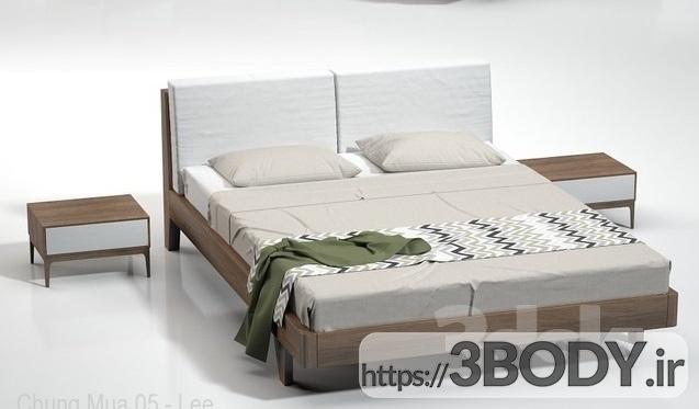 آبجکت سه بعدی  تخت خواب عکس 2