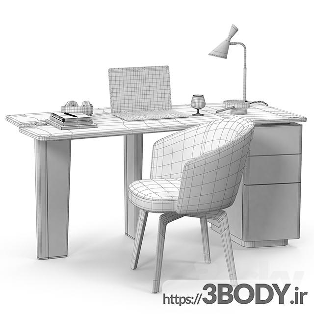 آبجکت سه بعدی ست میز و صندلی عکس 3