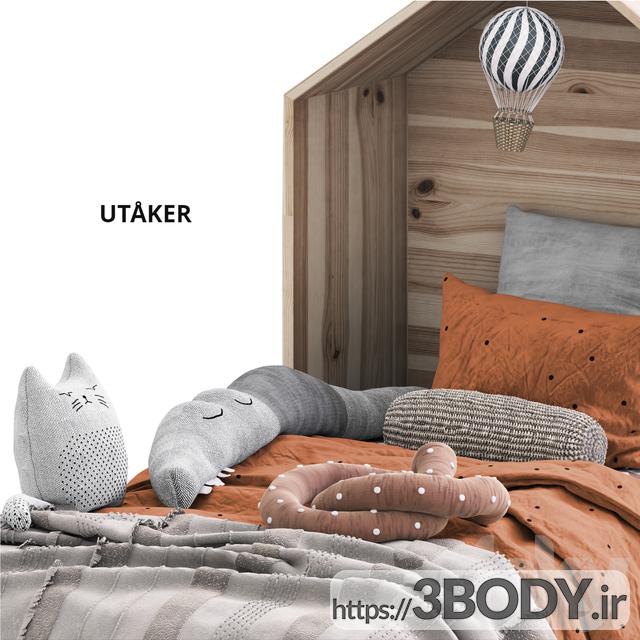 آبجکت سه بعدی اتاق کودک تخت خواب کودک عکس 3