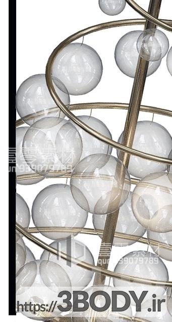 آبجکت سه بعدی  لوستر سقفی حبابی عکس 2