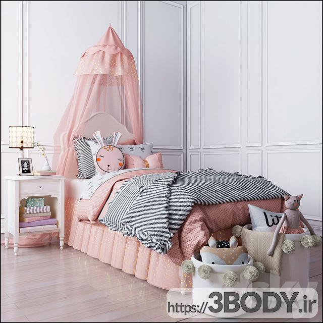 مدل سه بعدی تخت خواب بچه ست اتاق خواب سفال انبار ژولیت عکس 1