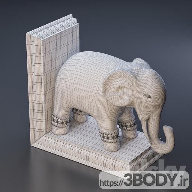 آبجکت سه بعدی تندیس فیل عکس 3
